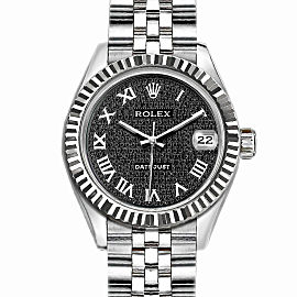Rolex Datejust Stainless Steel with Black Dial 36mm Mens Watch