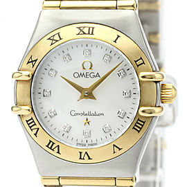 Polished OMEGA Constellation Diamond MOP Dial Ladies Watch 1262.75