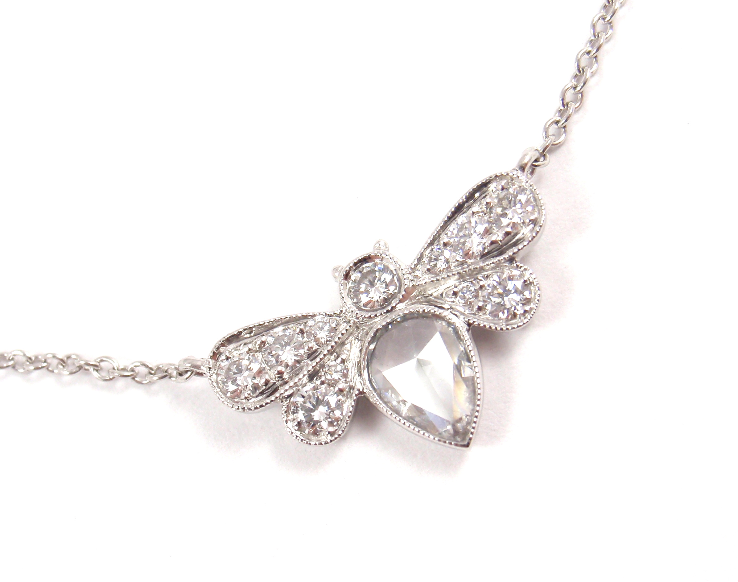 necklace platinum diamond edwardian floral