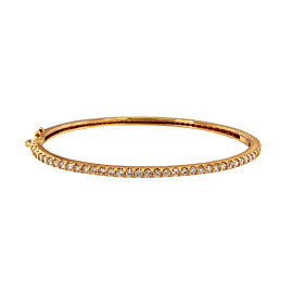 14K Rose Gold with 2.00ctw. Diamond Bangle
