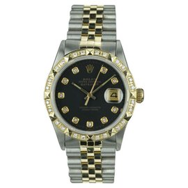 Rolex Datejust 18K Yellow Gold and Stainless Steel Vintage 36mm Mens Watch
