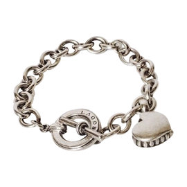Lagos Caviar 925 Sterling Silver Heart Chain Bracelet