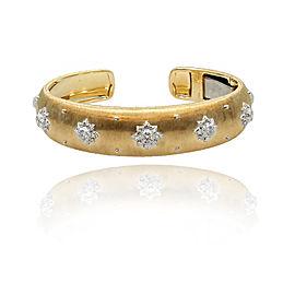 Buccellati Macri 18K White & Yellow Gold Cuff Bracelet