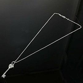 Tiffany & Co. silver 1P Diamond Key Heart necklace
