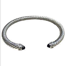 David Yurman Cable Classics Sterling Silver with Black Onyx and 0.07ct Diamonds Bracelet