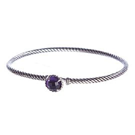 David Yurman Chatalaine Sterling Silver with Amethyst Bracelet
