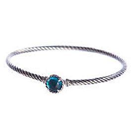 David Yurman Chatelaine Sterling Silver with Blue Topaz Bracelet