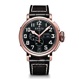 ZENITH Pilot Type 20 Annual Calendar 87.2430.4054.21/C721 Brown Calfskin 48mm Mens Watch
