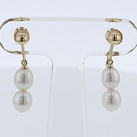 TASAKI 18K Yellow Gold / Pearl Double Earrings TBRK-326
