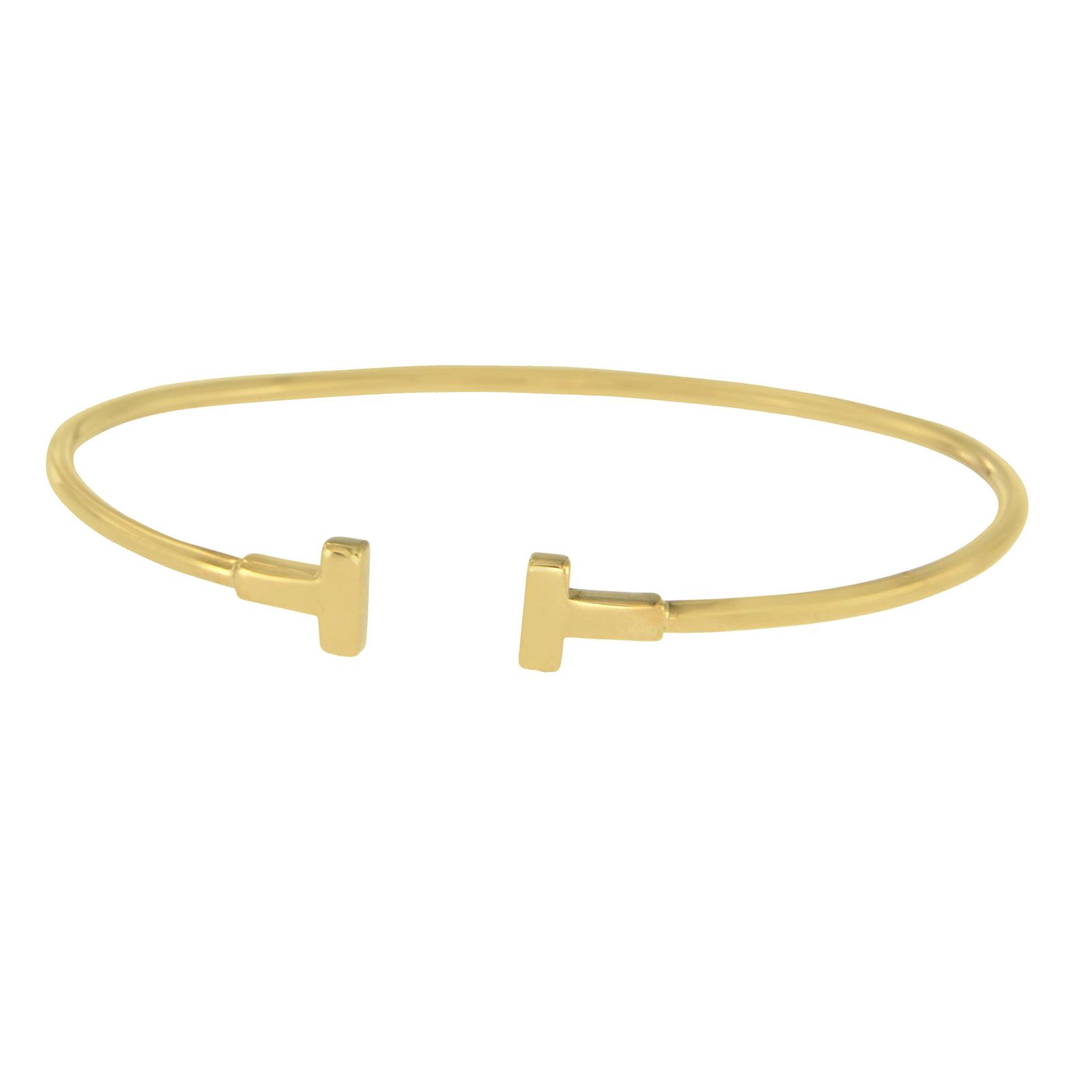 Tiffany Co 18k Yellow Gold T Wire Bangle Bracelet Tiffany Co Buy At Truefacet