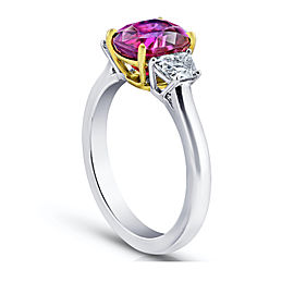 Platinum 18K Yellow Gold 3.18ctw. Ruby 0.69ctw. Diamond Ring Size 7