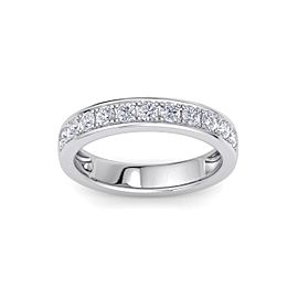 Channel Set Ring In 18K Gold with 0.77ct White Diamonds