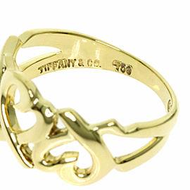 TIFFANY&Co. 18K Yellow Gold Triple rubbing heart Ring