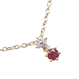 TASAKI Ruby Necklace K18 yellow gold/diamond Women