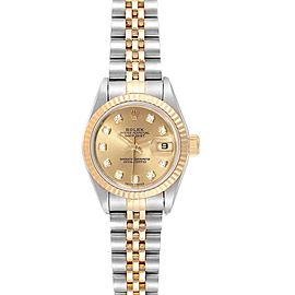 Rolex Datejust 26 Steel Yellow Gold Diamond Ladies Watch 69173