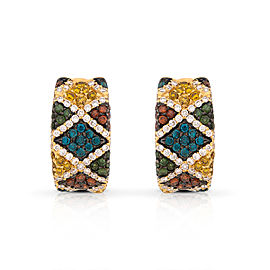 Le Vian Certified Pre-Owned Multi Colored Diamonds Earrings
