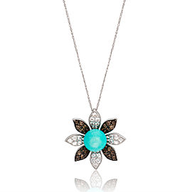 Le Vian Certified Pre-Owned Turquoise 14k Vanilla Gold Necklace