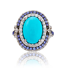 Le Vian Certified Pre-Owned Turquoise 14k Vanilla Gold Ring