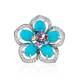 Le Vian Certified Pre-Owned Robin's Egg Turquoise Flower Ring