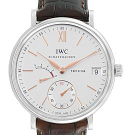 IWC Portofino 8 Days Power Reserve 45mm Silver Dial Mens Watch IW510103