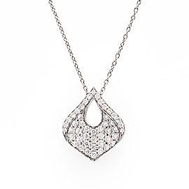 Roberto Coin 18K White Gold 0.35ct Diamond Drop Necklace