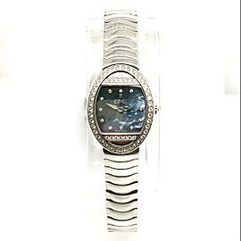 EBEL SATYA Quartz 22mm 18K White Gold Watch FACTORY Diamonds