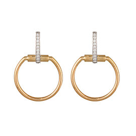 Roberto Coin Classic Parisienne 18K Yellow Gold 0.2ct Diamond Hoop Earrings