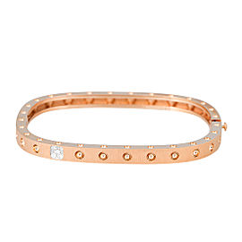 Roberto Coin Pois Moi 18K Rose Gold 0.07ct Single Diamond and Satin Bracelet