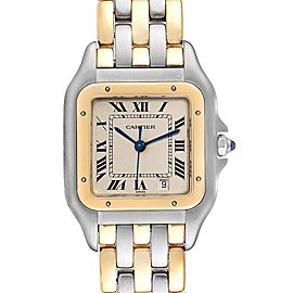 Cartier Panthere Large Steel 18K Yellow Gold Three Row Watch W25028B6