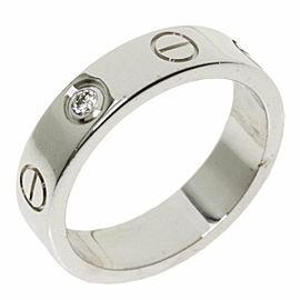 CARTIER 1P Diamond 18k White Gold mini love ring