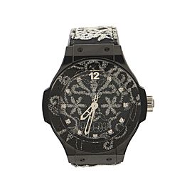 Hublot Big Bang Broderie Automatic Watch Ceramic and Rubber with Embroidery and Diamond Markers 41