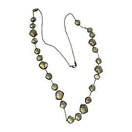 Ippolita Sterling Silver Black Rhodium Green Amethyst and Diamond Necklace