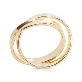 Tiffany & Co. 1837 18K Yellow Gold Interlocking Circles Ring Size 8.25