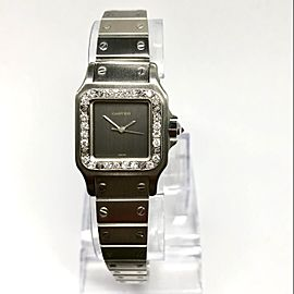 CARTIER SANTOS GALBEE 24mm Automatic Steel ~0.8TCW Diamond Watch
