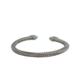 David Yurman Empire Cable Bracelet with Turquoise