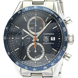 Polished TAG HEUER Carrera Chronograph Steel Automatic Watch CV2015