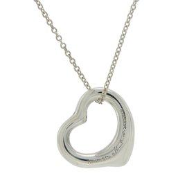 Tiffany & Co. Elsa Peretti 925 Sterling Silver Open Hearts Necklace