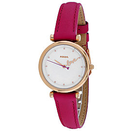 Fossil Women's Carlie Mini Three Hand Fuchsia