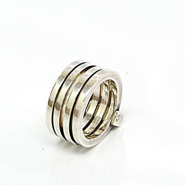 Gucci Silver 4 Stations Ring