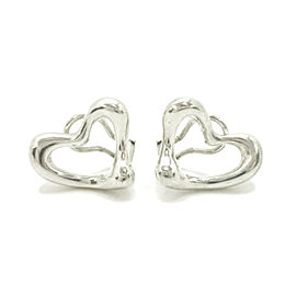 Tiffany & Co. Sterling Silver Open Heart peretti Earrings