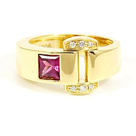 Piaget 18K Yellow Gold, Diamond, Pink Tourmaline Miss Protocole Ring CHAT-214