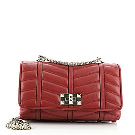 Valentino Va Va Voom Turnlock Clutch Quilted Leather Small