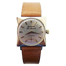 Bulova 14K Yellow Gold Vintage 26.5mm Unisex Watch Year 1965