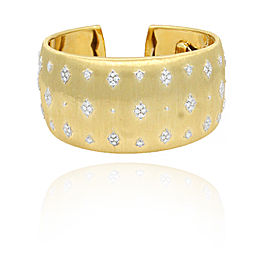 Buccellati 18K Yellow Gold & Diamond Cuff Bracelet