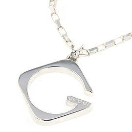 GUCCI 925 silver G logo Necklace