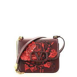 Valentino VSling Shoulder Bag Printed Leather Small