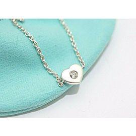Tiffany & Co. Sterling Silver Paloma Picasso Diamond Modern Heart Bracelet