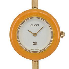 Gucci Change Bezel 11/12 White Dial Quartz Women's Watch