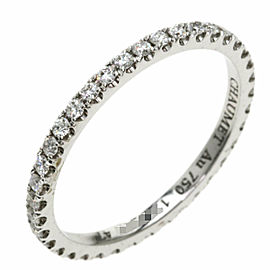 Chaumet 18K White Gold Eternity Diamond Ring TNN-2038
