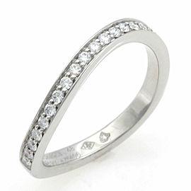 CHANEL Pt950 Platinum Diamond Ryu Band Half Eternity Wave Ring CHAT-940